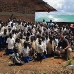 Jose with the Project Mzungu school and the students