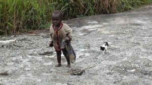 Making his way home in DRC