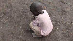 Pensive child in the Democratic Republic of Congo
