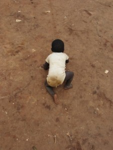 A local child in the Democratic Republic of Congo, and a potential future student of his new community school.