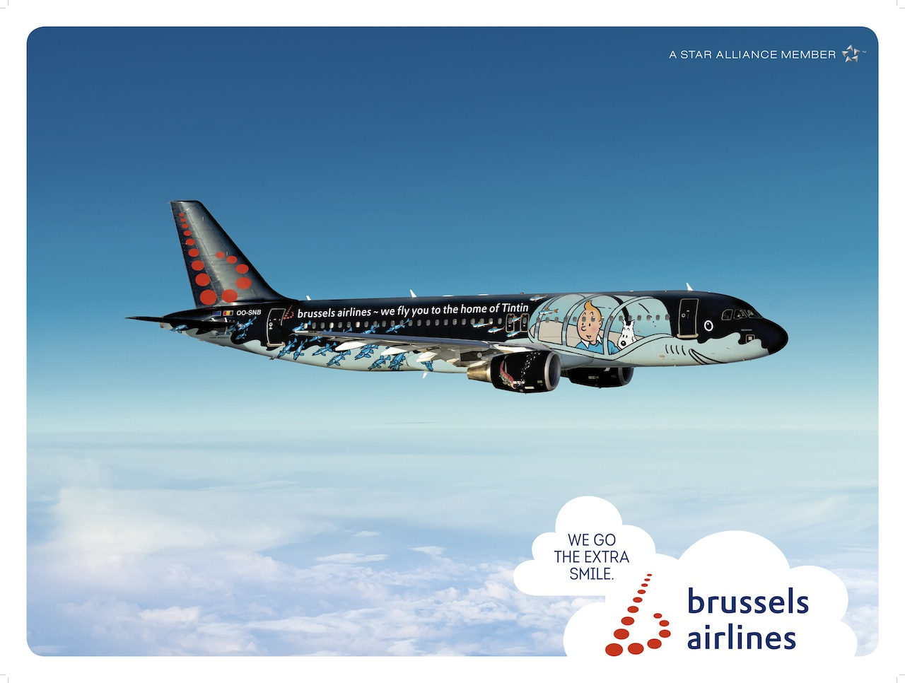 Tintin Brussels Airlines